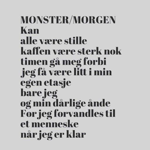 Monster/Morgen av Trygve Skaug