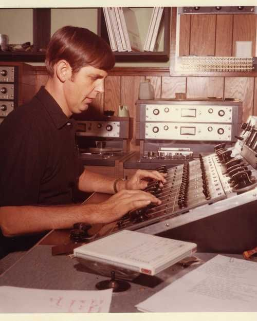 Muscle Shoals Alabama - Rick Hall at the Board in the early days.