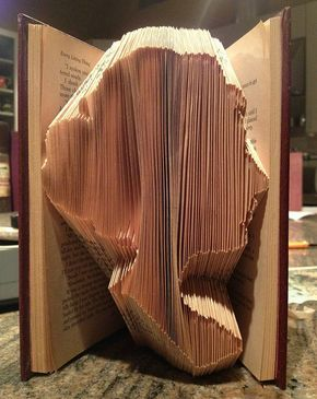 Learn about hot to do Folded Books- Jane Austen Silhouette by all things paper, via Flickr