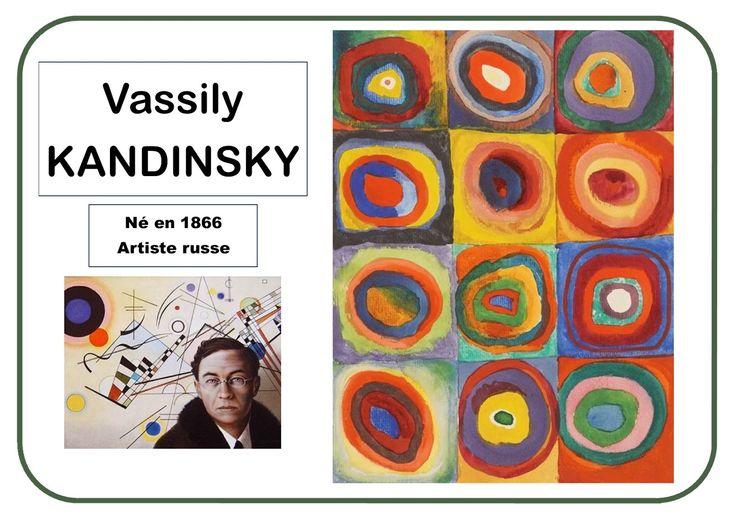 Kandinsky - carrés avec des cercles concentriques en MS