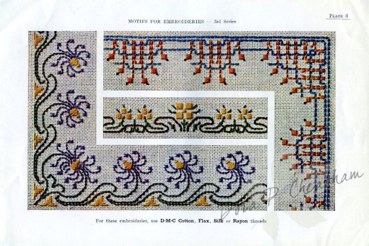 Gallery.ru / Фото #10 - Vintage DMC - Motifs for Embroideries No 3 - Dora2012