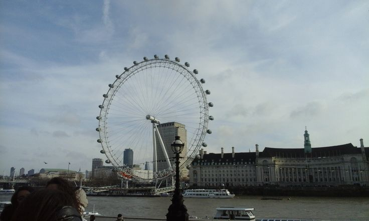 England , London 14-2-16 Here on the South Bank of the river Thames the famous London Eye ! The Europe's tallest Ferris wheel is the most popular tourist attraction  and had become one of the symbols of the UK .