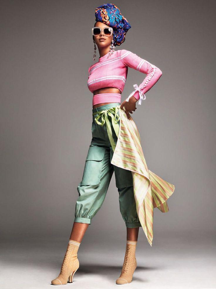 Fendi pieces get an exotic twist in Vogue Brazil