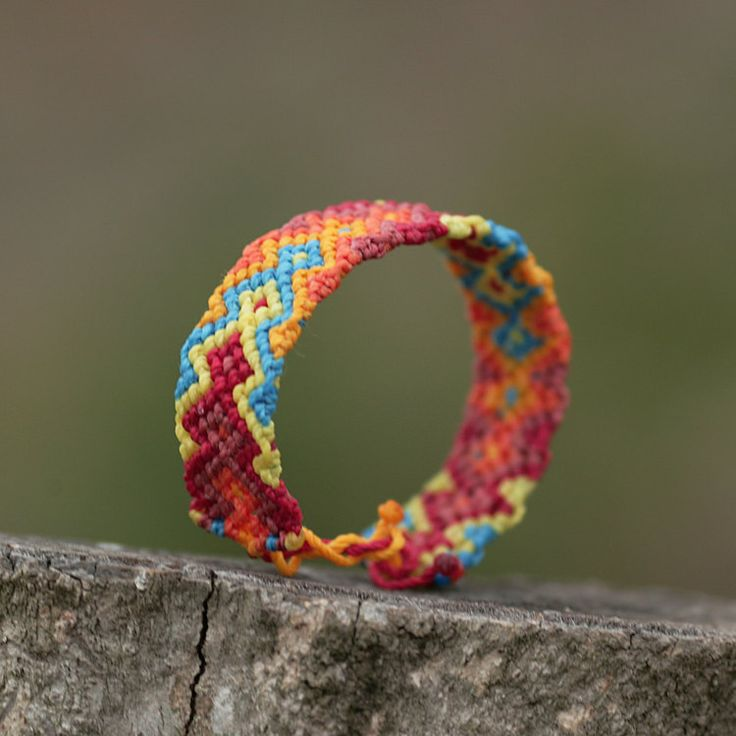 Sunrise Bracelet Macrame Jewelry Wristbands by MacrameBrazilian