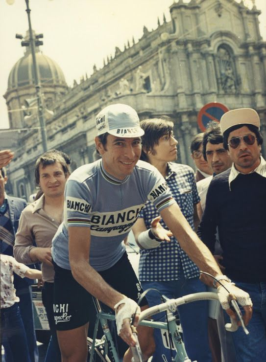 Felice Gimondi al Tour de France - remains one of a few to win all three Grand Tours. (Rode '73 to '79 for Bianchi.)