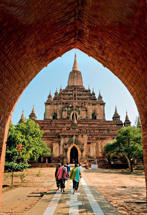 Antigo templo Sulamani, em Bagan, Myanmar Viagem Ásia  (Foto: Divulgação)