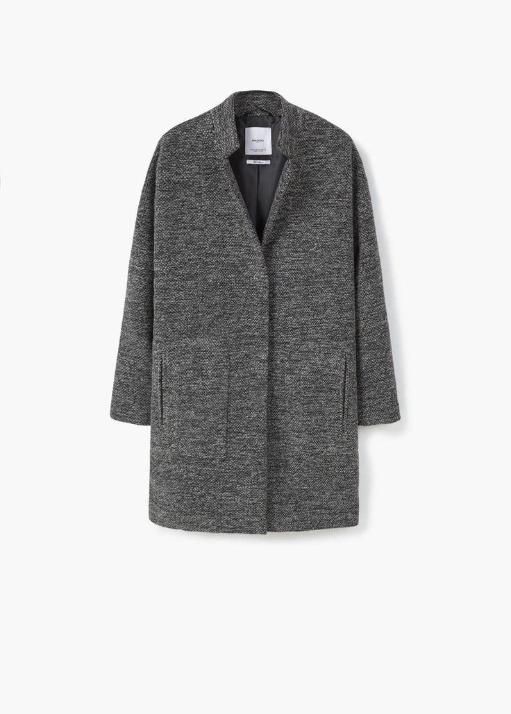 Płaszcz bawełna i wełna | MANGO
