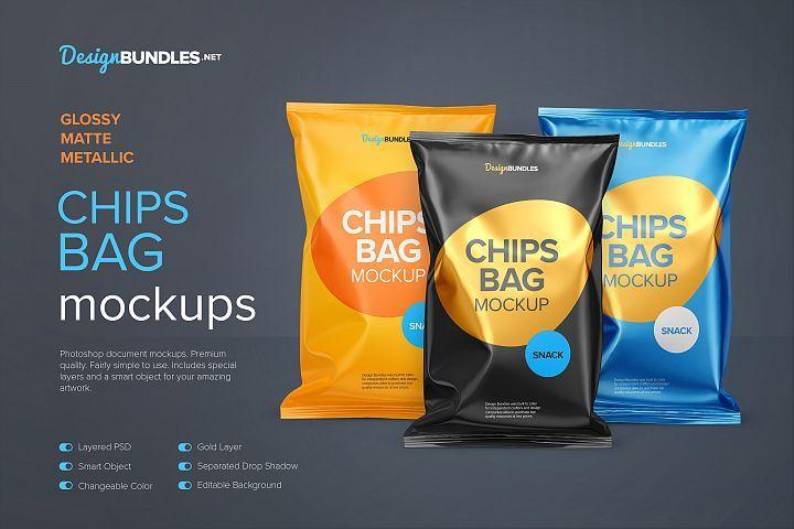 Download Chips Bag Mockups