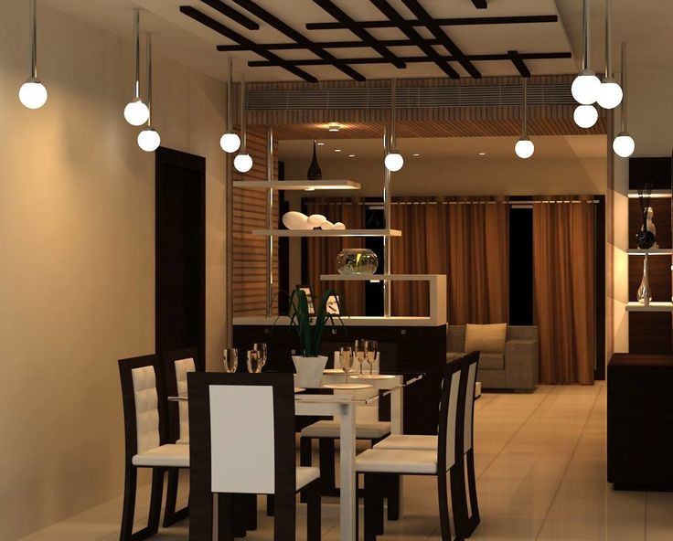 The Dining Space Furnished With Very Light Design Wooden Having Glass Table Top Along