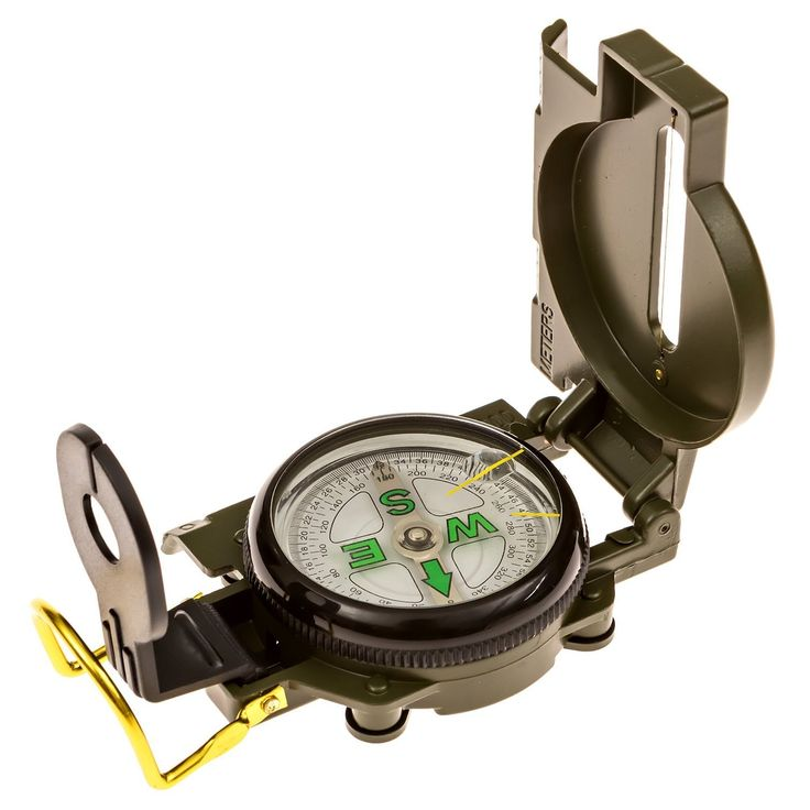 HTE Survival Compass: Multipurpose Marching Lensatic Compass for Outdoor * Click image to review more details.