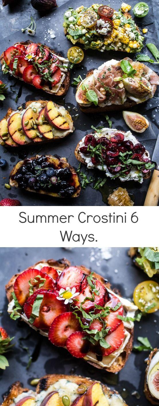 Summer Crostini 6 Ways   http://halfbakedharvest.com /hbharvest/