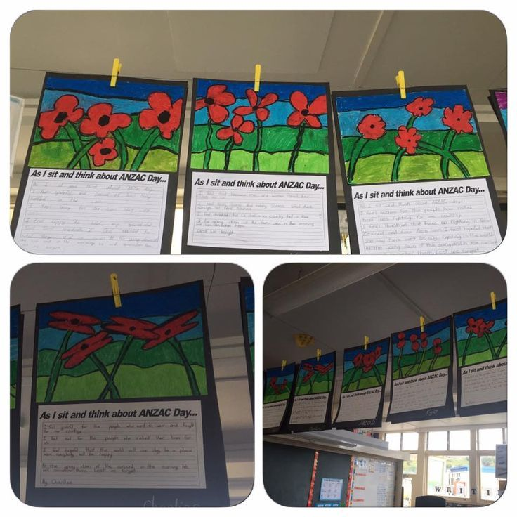 """ANZAC Day art. """"As I sit and think about ANZAC Day"""" reflection. Courtesy of Tania Kirk"""