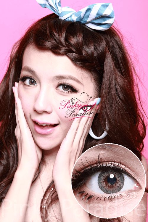 Geo Tri Color Green Circle Lenses (Colored Contacts) height=