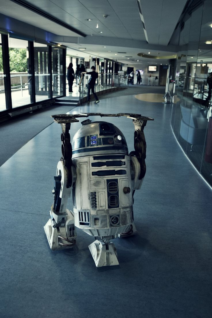 R2D2 greeted us at the Uni of Bradford.