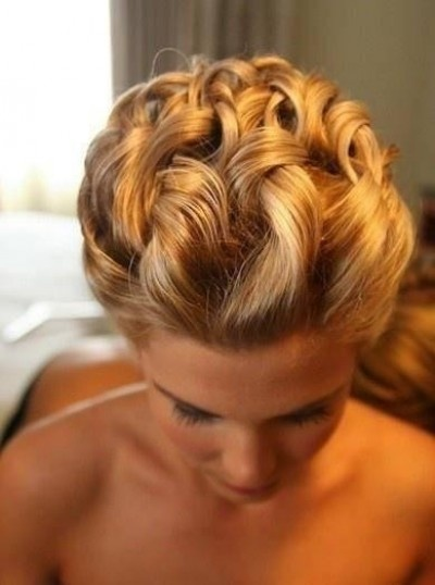 Beautiful intricate wedding hairstyle for blondes