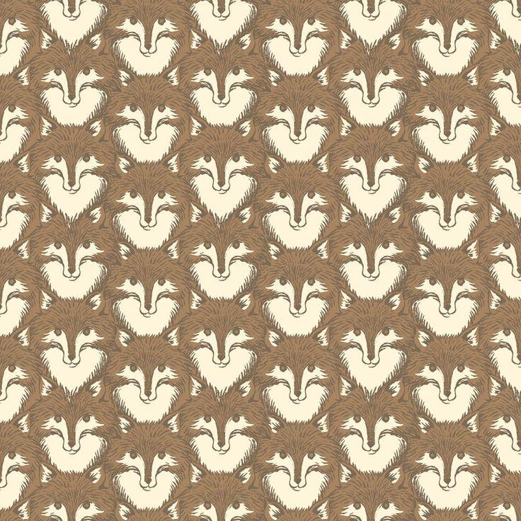 timber & leaf   blendfabrics.com  designer - sarah watts 110.103.07.2 Fox Portrait Brown