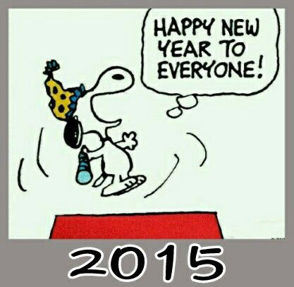 'Happy New Year Everyone!', 2015, Snoopy.
