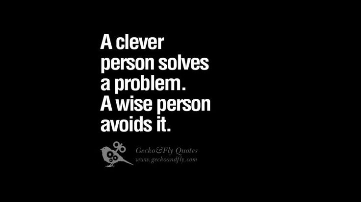 A clever person solves a problem. A wise person avoids it. 24 Funny Eye Opening Quotes About Wisdom, Truth And Meaning of Life