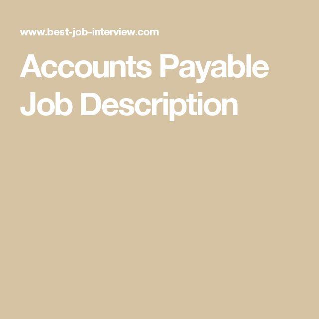 Πάνω από 25 κορυφαίες ιδέες για Job description στο Pinterest - accounts payable job description
