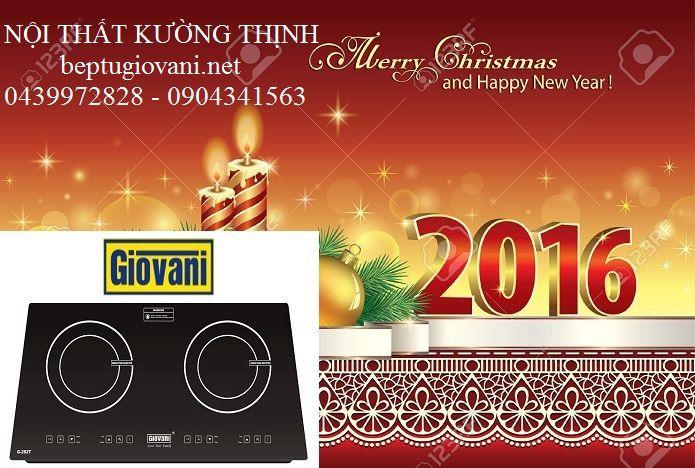 Bếp từ Giovani tưng bừng khuyến mãi đón Giáng Sinh và tết Dương Lịch: