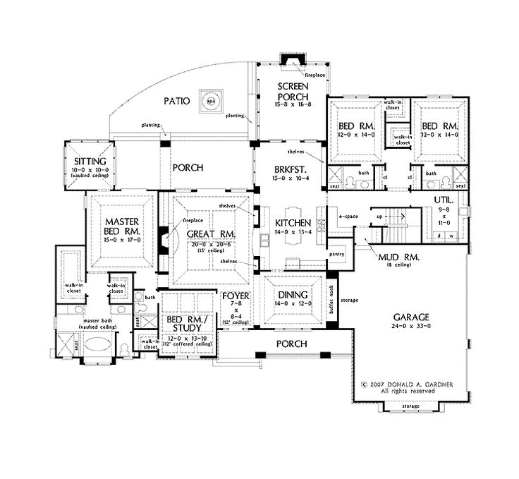 """Like this one too and it has the island kitchen as well.  Dual MB closets and his and her sinks in the MB bathroom.  This actually has a """"master suite"""".      3047 sqft, 4/4/3. 800 +/- sqft bonus not included (over garage w/ attic access)"""