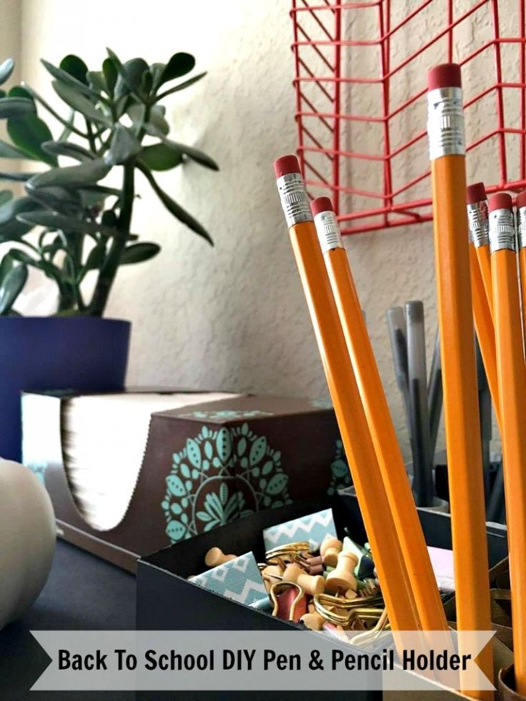 Back To School DIY Pen & Pencil Holder #StockUpOnSoothingSoftness #ad