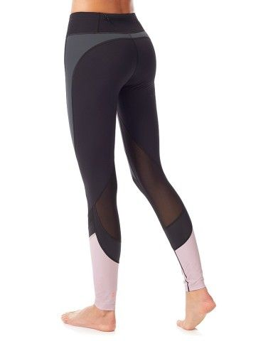 To the Beat Dance Leggings. Undeniably sophisticated, these high-shine dance leggings come packed with technical features. Supportive fabric is extremely flattering while remaining high-stretch to enhance your range of motion. With breathable mesh inserts, you'll stay cool during even the most intense rehearsals. Plus, tonal leather look and contrast colour panels make these leggings every bit as stunning from studio to street.