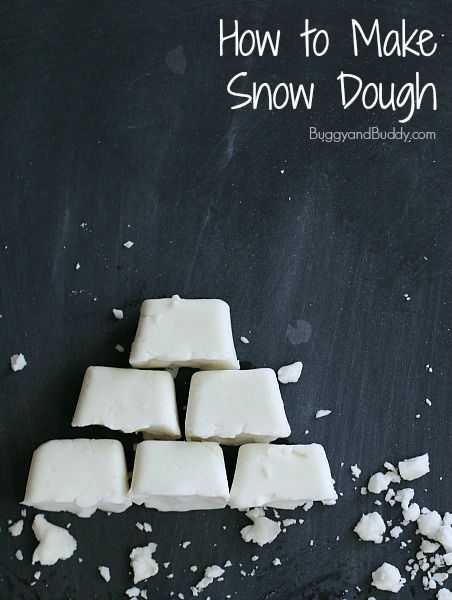 How to Make Snow Dough (homemade white playdough with a snow-like texture)~ BuggyandBuddy.com