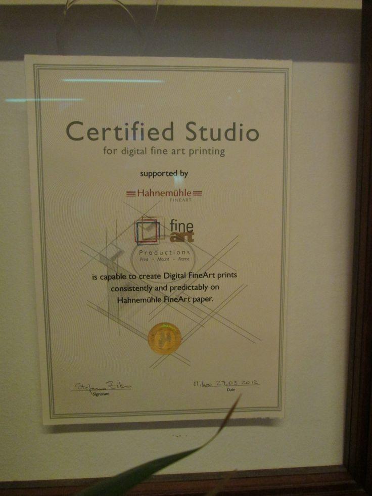 certificazione fine-art della #hahnemuhle