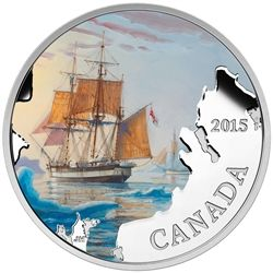 2015 $20 Franklin's Lost Expedition - pure silver coin.