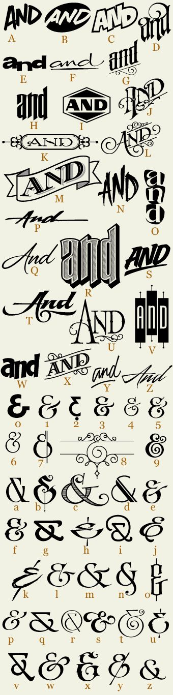 "62 hand drawn ""Ands"" expertly crafted and ready for your designs. Each letter corresponds to a unique and stylish ""And"" or ""&"". Set includes 6 free bonus Ands for a total of 68."