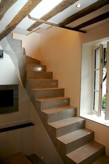 Les 25 meilleures id es de la cat gorie habillage escalier sur pinterest r nover escalier - Habillage escalier beton interieur ...
