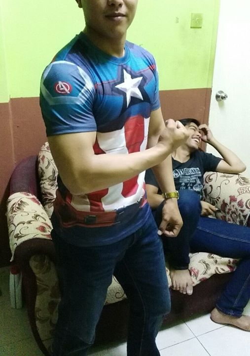 Mark Yoe bos nmpak seperti real superhero...hehe... #marvel #xman #deadpool #avengers #captainamerica
