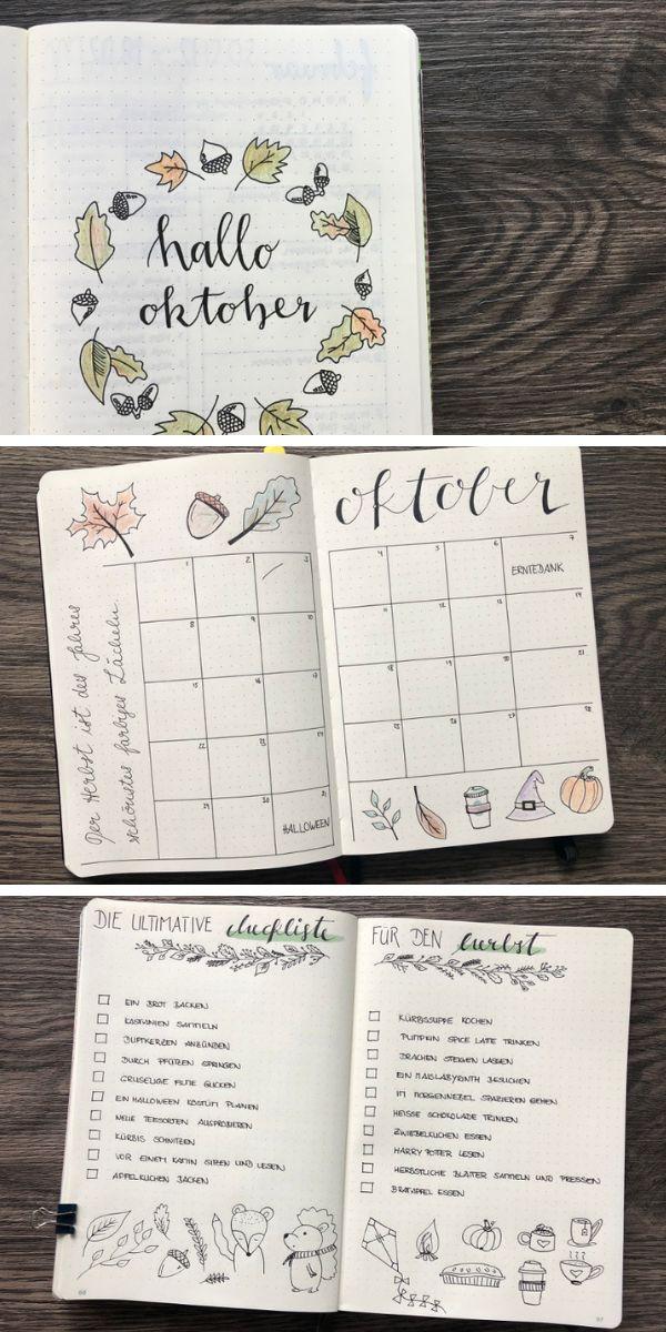 Die ultimative Checkliste für dein BuJo im Herbst