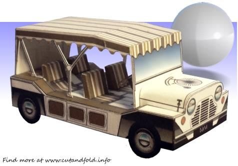 This great little model of the BMC Mini Moke , as it appears on  The Prisoner, the classic tv series from the 1960`s , was created by  Nor...
