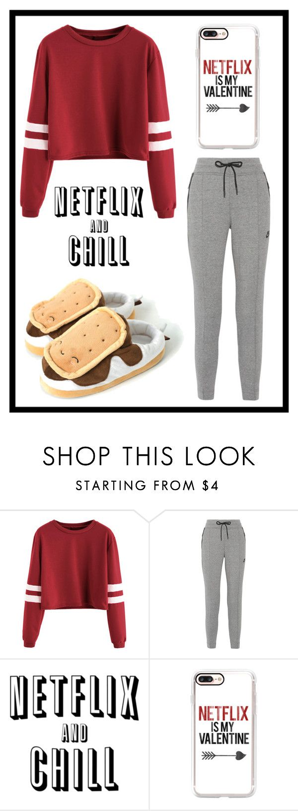 """""""#552 Netflix and chill"""" by xjet1998x ❤ liked on Polyvore featuring NIKE and Casetify"""