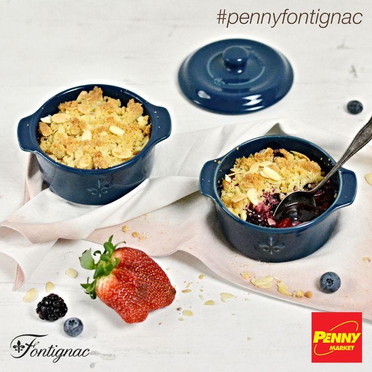 Potěšte svou rodinu mandlovým crumble s lesním ovocem! Připravte ho v dvoudílné sadě minikastrolů značky Fontignac, kterou nyní v PENNY můžete získat se slevou až 90 %! Celý recept najdete na http://www.penny-fontignac.cz/recepty/detail/mandlovy-crumble-s-lesnim-ovocem. Dobrou chuť!    #penny #pennycz #pennymarket #pennymarketcz #pennyfontignac #fontignac #nadobi #nadobifontignac #kuchyne #vareni #peceni #recept #mnam #jidlo #zakusek #dezert #crumble #mandle