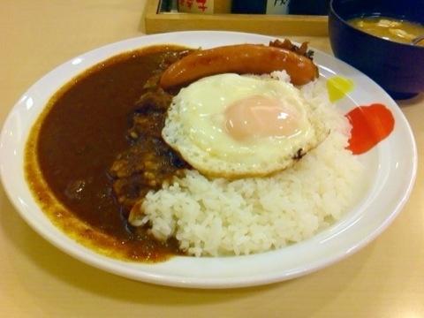 【松屋】ソーセージエッグ&カレー