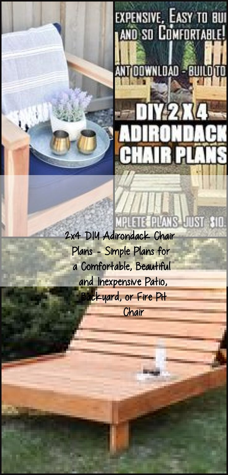 2x4 DIY Adirondack Chair Plans Simple Plans for a