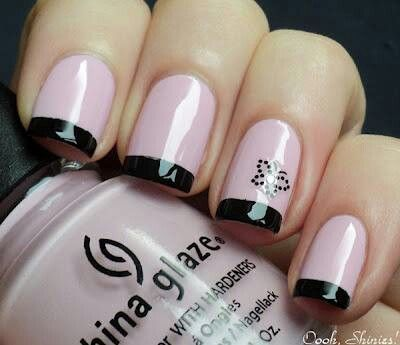 Delicate pink and black