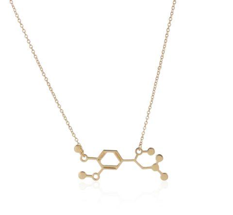 Adrenaline Molecule Necklace