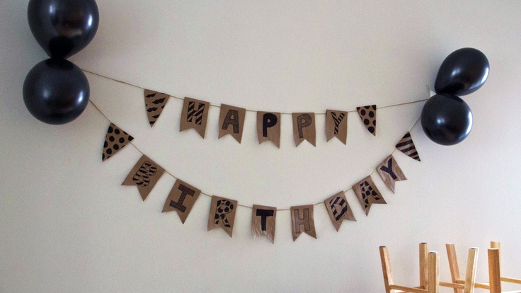 DIY party decorations - balloons and banner- Masculine birthday.