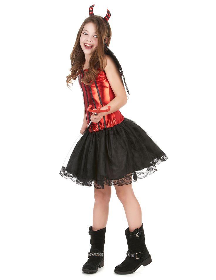 Déguisement diablesse fille : Ce déguisement diablesse pour fille se compose…