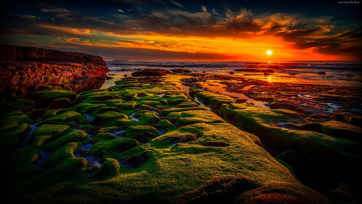 Morze, Zachód słońca