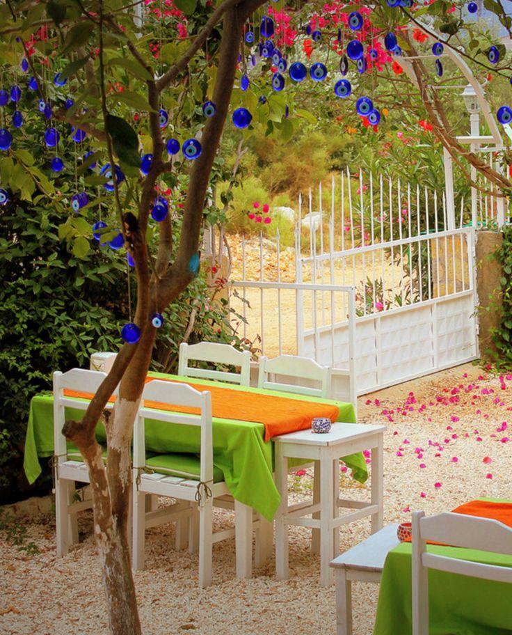 #YeşilVadiDoğaOtel bahçesinin zeytin ağaçları altında geleneksel Türk lezzetleri çok daha güzel!  Under the olive trees at  #YeşilVadiDoğaOtel 's garden Turkish delicacies are much more beautiful!  http://www.yesilvadidogaotel.com/  #YeşilVadiDoğaOtel #hotel #Kaş #Antalya #Likya #garden #bahçe #Turkishdelicacies #Türklezzetleri #bungalow #holiday #tatil #travel #tour #gezi #tur