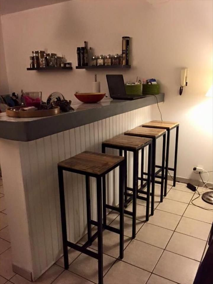 Upcycled Pallet and Metal Stools | 99 Pallets