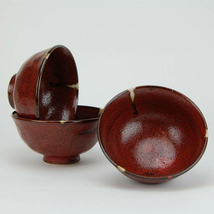 Japanese stoneware rice bowls