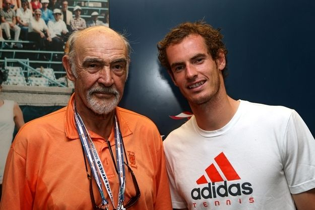 Sean Connery With Andy Murray during the final of the US Open.