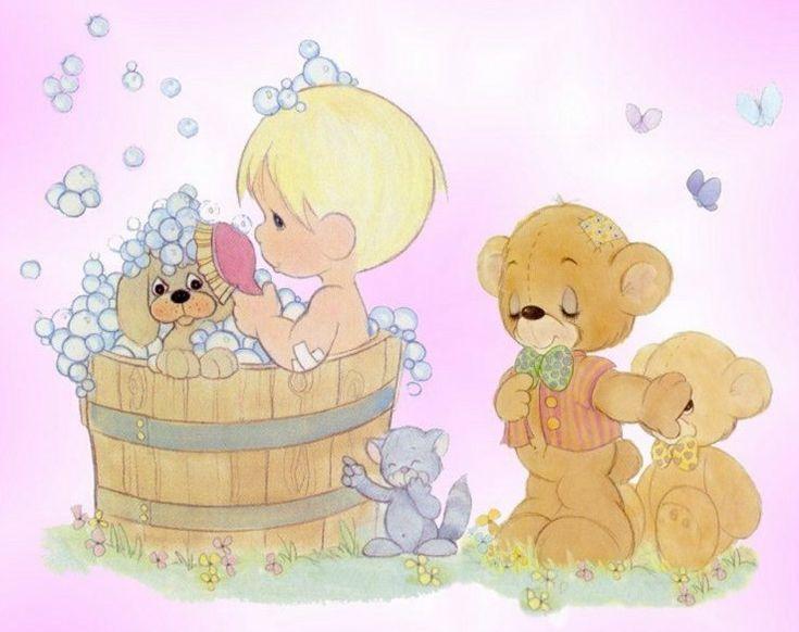 Precious Moments Glitter Graphics   Backgrounds » Cartoons » precious moments