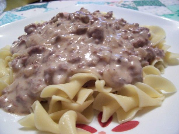 Easy, Creamy Hamburger Stroganoff | Recipe